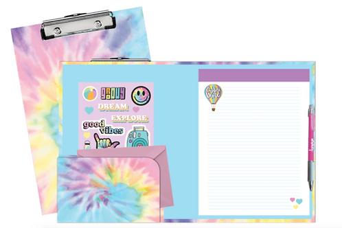 Pastel Tie-Dye Clip Board Set