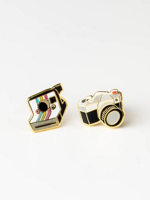 Yellow Owl Workshop - Gold Camera Earrings
