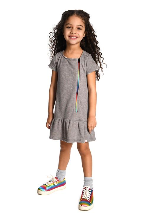 Appaman Rainbow Zipper Sweatshirt Dress