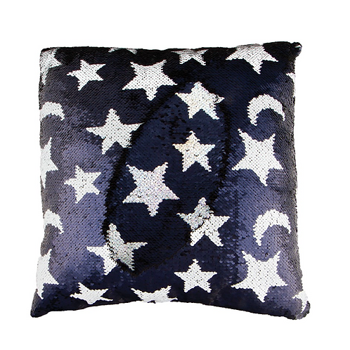 Magic Sequin Moon & Stars Pillow