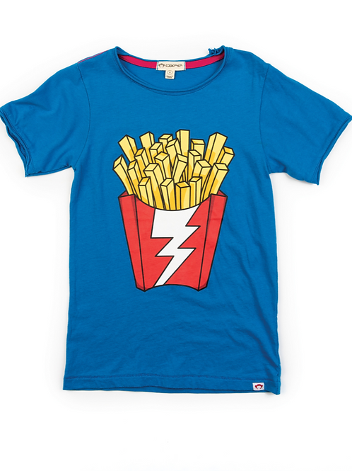 Blue French Fries T-Shirt