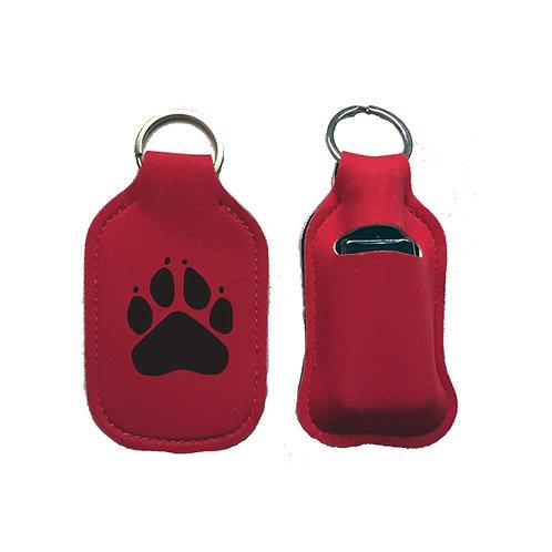 Paw Hand Sanitizer Bottle Key Chain