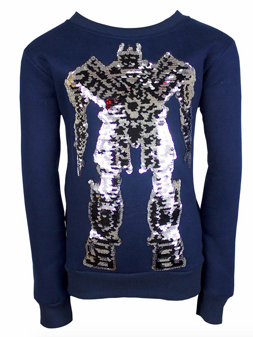 Flippy Sequin Transformer Robot Sweatshirt