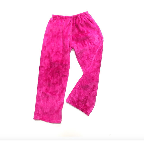 Fuzzy Pink PJ Pants