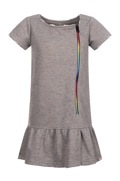 Appaman Rainbow Zipper Sweatshirt Dress
