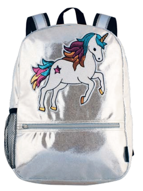 Silver Sequin Unicorn Backpack