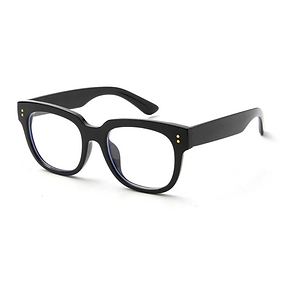 Adult Black Chunky Frame Blue Light Glasses