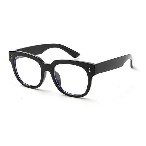 Adult Black Chunky Frame Blue Light Glasses