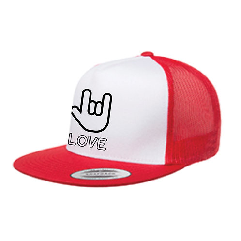 Love Sign Trucker Hat