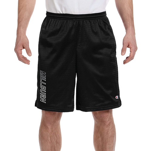 Millburn Champion mesh shorts with reflective logo