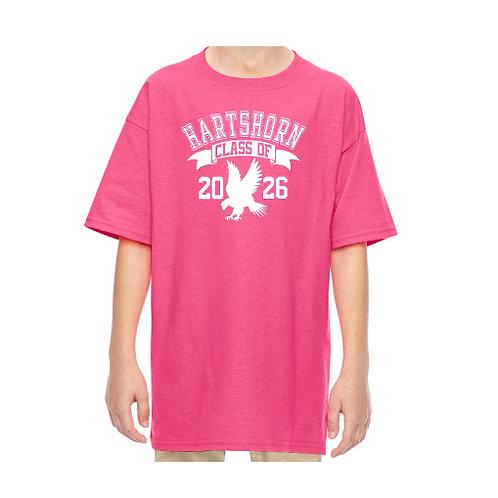 """Pink Glitter Hartshorn """"Class of"""" T-Shirt"""
