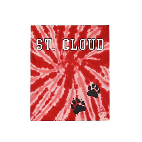 St Cloud Paws Tie-Dye Print Throw Blanket
