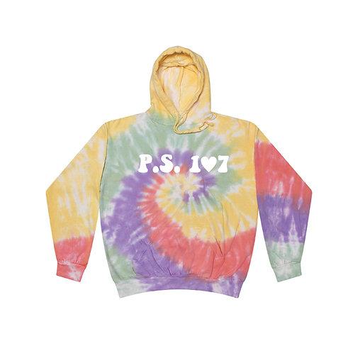 Pastel Tie-Dye Glitter Heart Logo PS107 Hoody