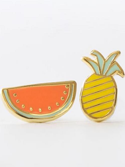 Yellow Owl Workshop - Gold Fruit Earrings