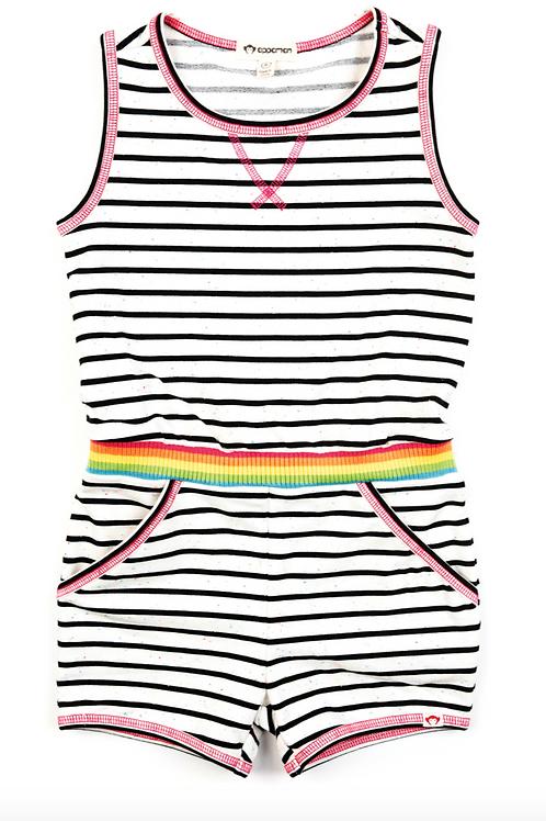 Black & White Stripe Romper