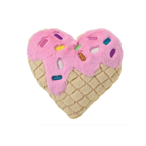 Waffle Cone Heart Pillow