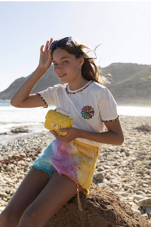 Lola and The Boys PomPom Flower T-Shirt