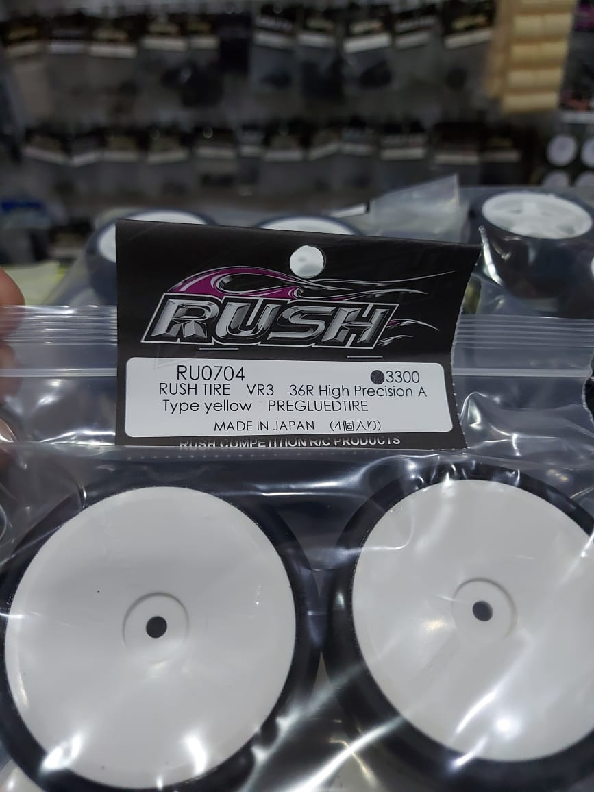 Rush touring tyres sold at RC Passion in Brunei.