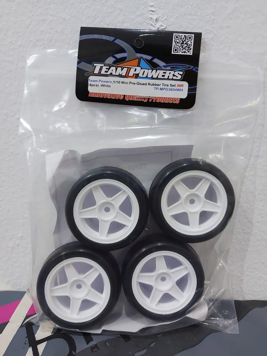 Team Powers M-Chassis tyres sold at RC Passion in Brunei.