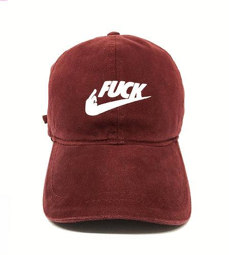 Boné Dad Hat Fuck - Vinho