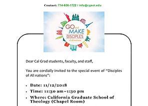 2018 Cal Grad Special Event - Disciples