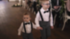 The ring bearers on the wedding day