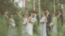 Adventurous wedding in the woods in this