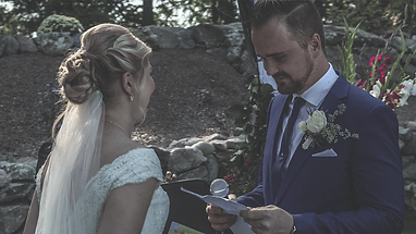 Grooms first vows captured by wedding vi