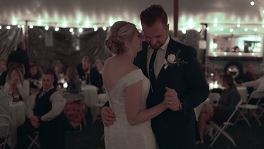 First dance for bride and groom from the