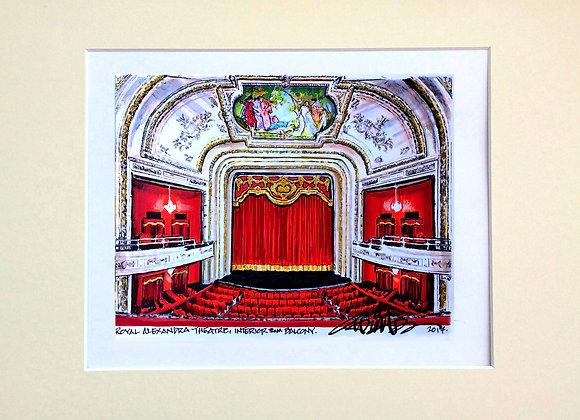 Custom Illustration of the Royal Alex interior