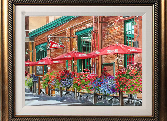 "Mill Street 16""x 20"" Acrylic Painting"