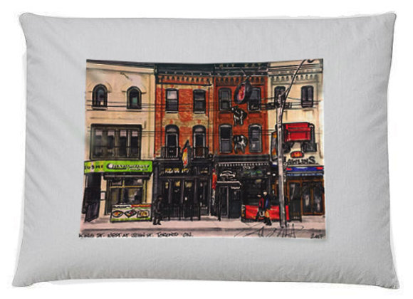King Street West Throw Pillow