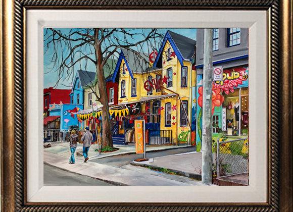 "Kensington Market 16""x 20"" Acrylic Painting"