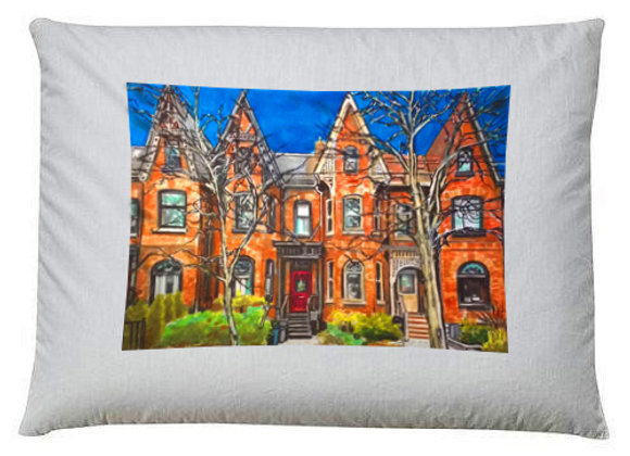 Cabbagetown  Victorians Pillow