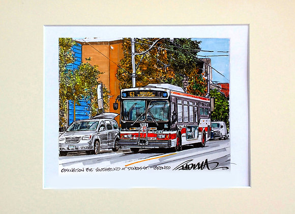 Ossington Bus Southbound, at Dundas St.