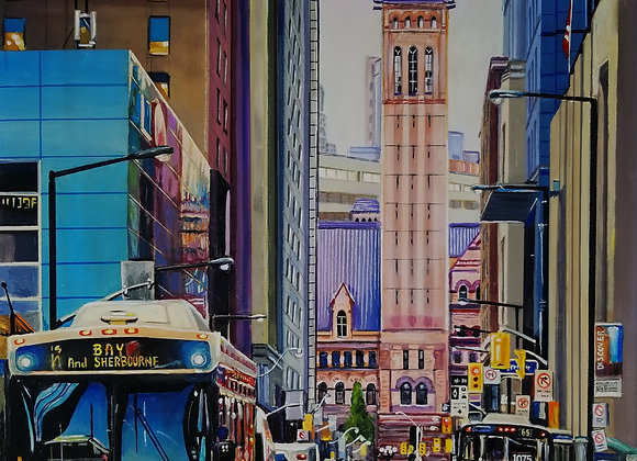 "Old City Hall Painting 24""x 36"""