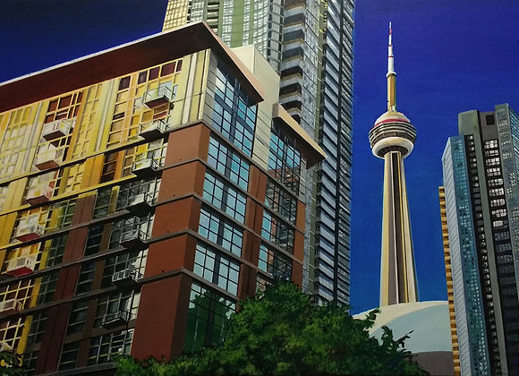 Lower Spadina at Dusk Painting