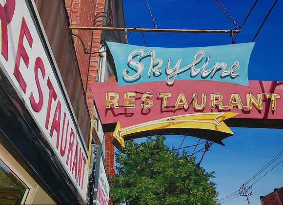 Small Print Skyline Restaurant