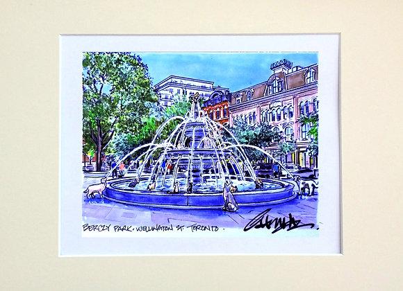 Berzcy Park Dog Fountain