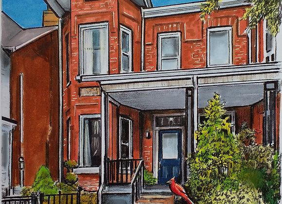 Custom Illustration of Family home