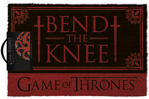 GOT BEND THE KNEE DOORMAT ZERBINO