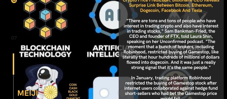 Crypto Price Prediction: Billionaire CEO Reveals Surprise Link Between Bitcoin, Ethereum, Dogecoin,