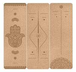 Tapis de yoga en liège gravé