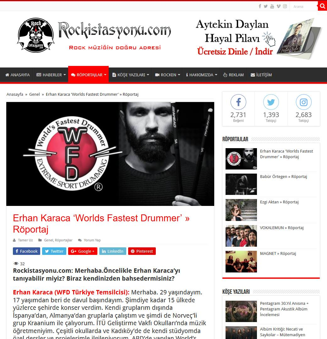 Erhan Karaca Davul Dersleri Kadıköy