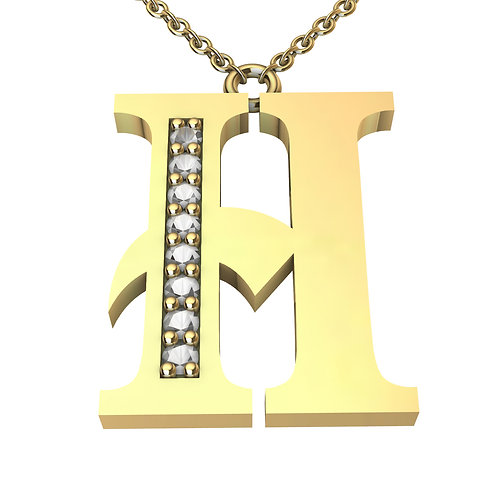 H - Alphabet Pendant