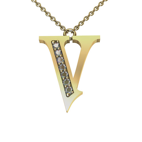 V - Alphabet Pendant
