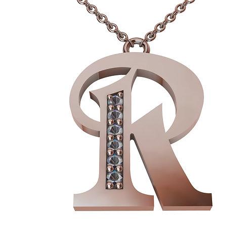 R - Alphabet Pendant