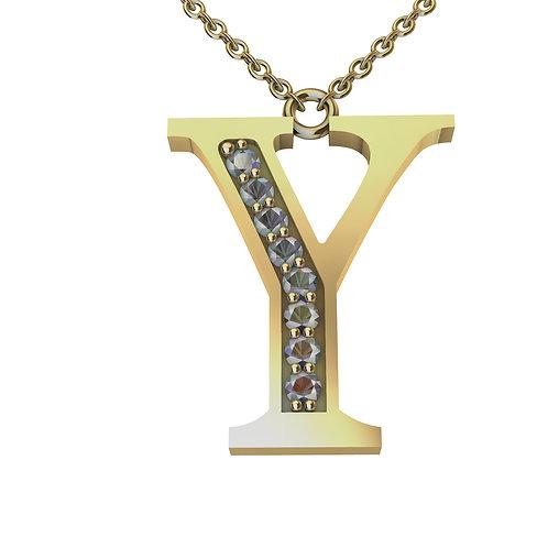 Y - Alphabet Pendant