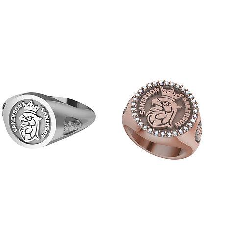 Diamonds Sakerson logo ring