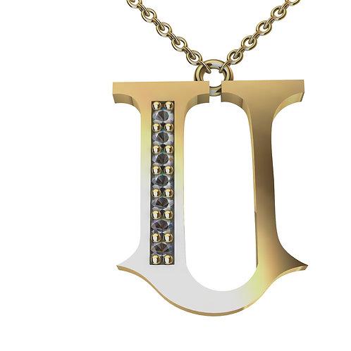 U - Alphabet Pendant
